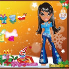 Bratz baba karácsonyi öltöztető online  játékok ingyen
