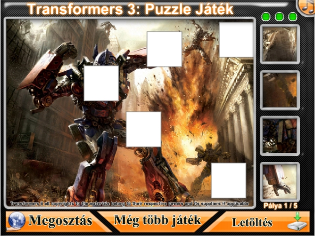 Free Download Transformers 3: Puzzle Játék Screenshot 1