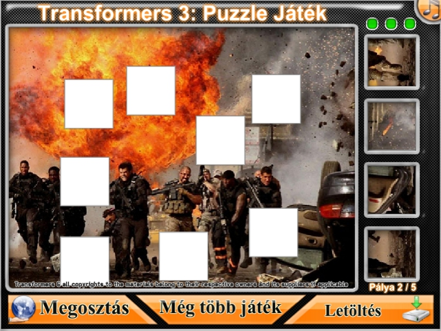 Free Download Transformers 3: Puzzle Játék Screenshot 2
